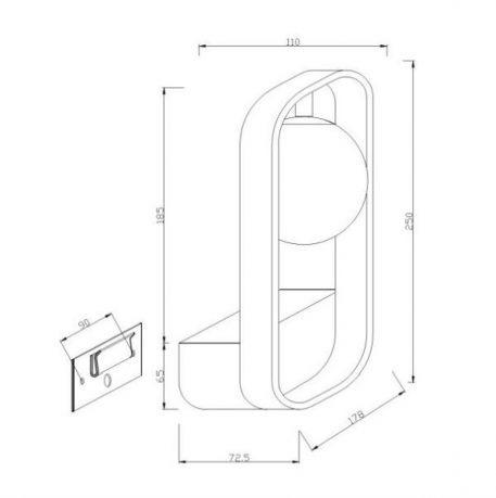 Lampa nowoczesna - MOD431-WL-01-WG