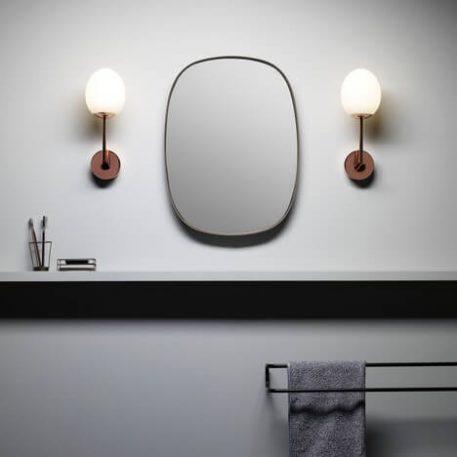 Lampa nowoczesna - polerowana miedź, mleczne szkło - Astro