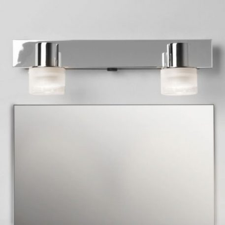 Lampa nowoczesna - polerowany chrom, szkło - Astro