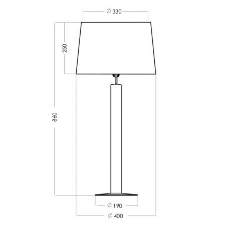 Lampa nowoczesna Styl modern classic biały, połysk, Czarny  - Sypialnia