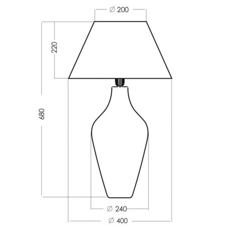 Lampa nowoczesna Styl modern classic biały, transparentny  - Salon