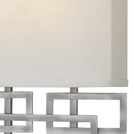 Lampa nowoczesna Styl nowoczesny beżowy, srebrny  - Sypialnia