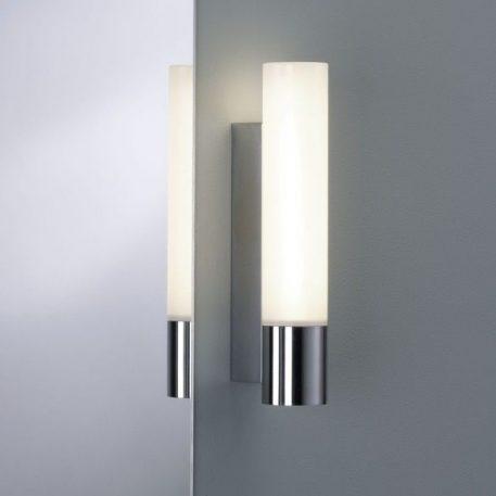 Lampa nowoczesna Styl nowoczesny biały, srebrny  - Łazienka