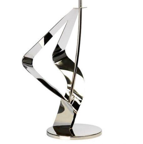 Lampa nowoczesna Styl nowoczesny srebrny, Czarny  - Salon
