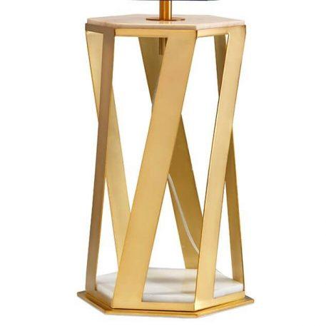 Lampa nowoczesna - szczotkowany mosiądz, tkanina - Ardant Decor