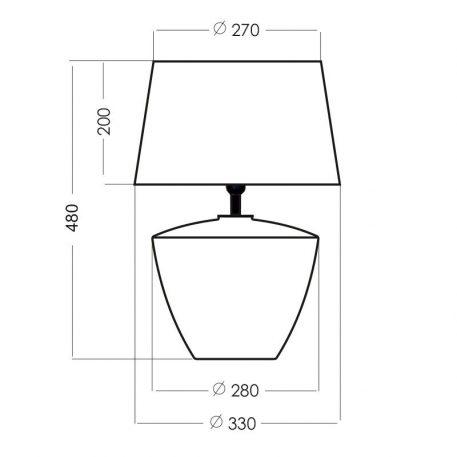 Lampa nowoczesna szklane beżowy, połysk, Czarny  - Sypialnia