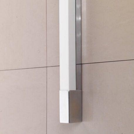 Lampa nowoczesna szklane biały, srebrny  - Łazienka