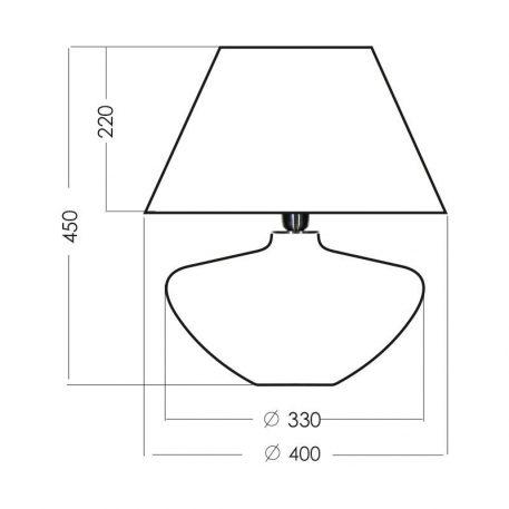Lampa nowoczesna szklane Czarny, Zielony  - Salon
