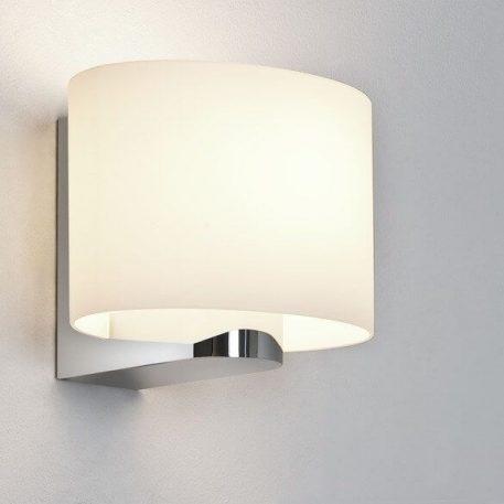 Lampa nowoczesna - szklany klosz, polerowany chrom - Astro