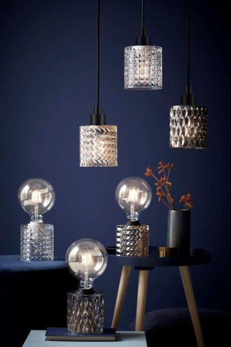 Lampa nowoczesna - szkło barwione na bursztynowy odcień - Nordlux