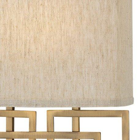 Lampa nowoczesna Z abażurem beżowy, brązowy  - Sypialnia