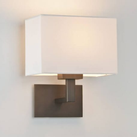 Lampa nowoczesna Z abażurem biały, brązowy  - Sypialnia