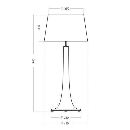 Lampa nowoczesna Z abażurem biały, Czarny  - Sypialnia