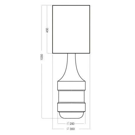 Lampa nowoczesna Z abażurem biały, srebrny, transparentny  - Sypialnia