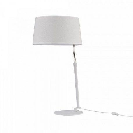 Lampa nowoczesna Z abażurem biały  - Sypialnia