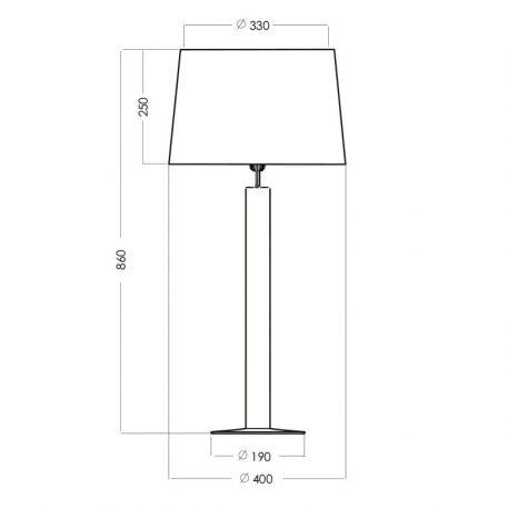 Lampa nowoczesna Z abażurem transparentny, Czarny  - Salon