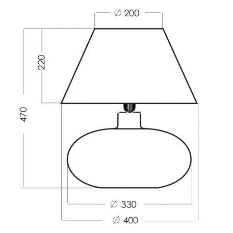 Lampa nowoczesna Z abażurem transparentny, Czarny  - Sypialnia
