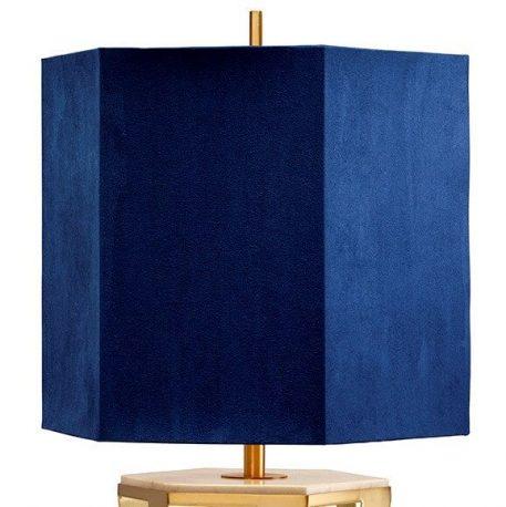 Lampa nowoczesna Z abażurem złoty, Niebieski  - Sypialnia