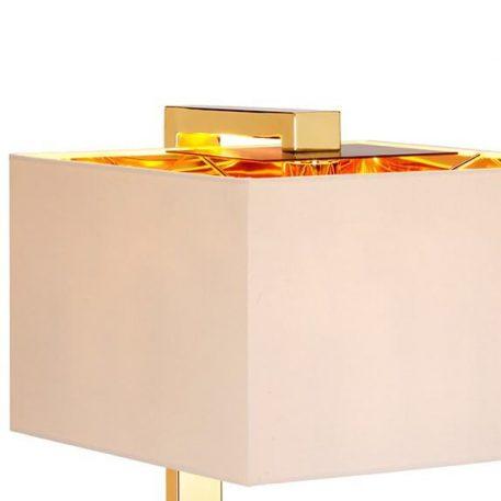 Lampa nowoczesna - złoty, brązowy metal, kremowa tkanina złota wewnątrz - Ardant Decor