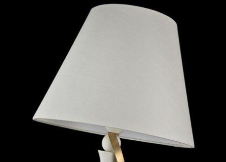 Lampa podłogowa - biała tkanina, biały i złoty metal - Maytoni