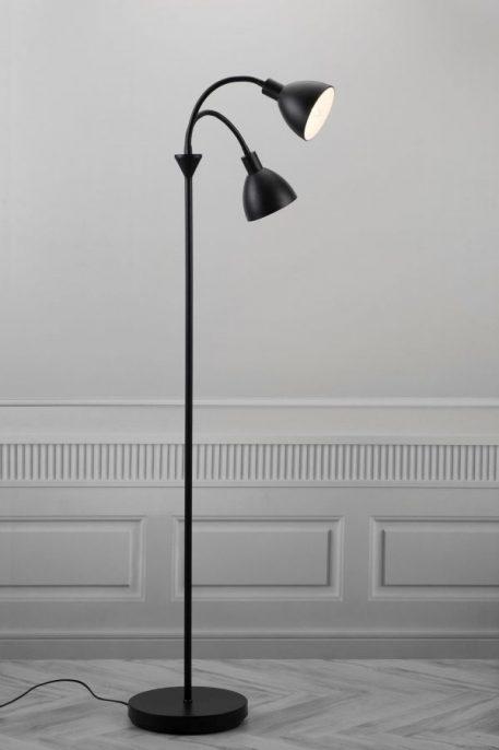 Lampa podłogowa Do czytania Czarny  - Salon