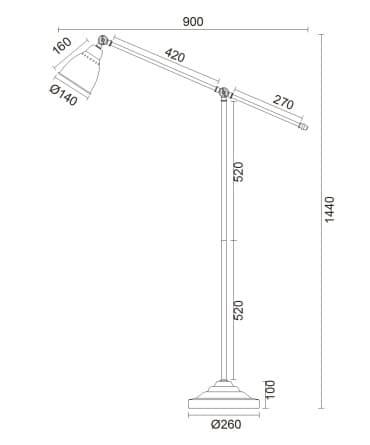 Lampa podłogowa - MOD142-FL-01-BS