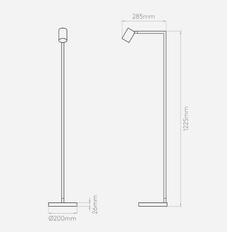 Lampa podłogowa Styl nowoczesny srebrny  - Sypialnia