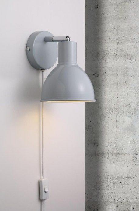 Lampa skandynawska Do czytania Niebieski  - Sypialnia