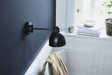 Lampa skandynawska - matowy, czarny metal  - Frandsen Lighting