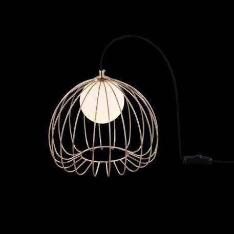 Lampa skandynawska - złoty metal, mleczne szkło - Maytoni