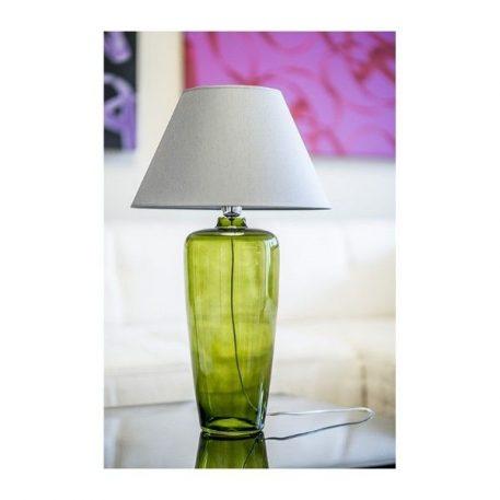 Lampa stołowa - barwione szkło, czarny abażur złoty w środku - 4concepts