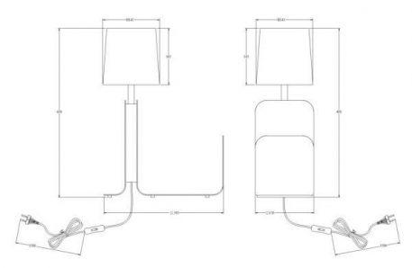 Lampa stołowa - biały i złoty metal, biała tkanina - Maytoni