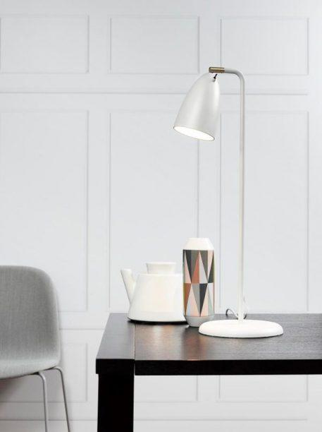 Lampa stołowa - biały metal - Nordlux
