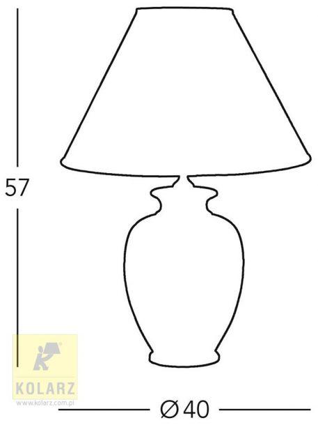 Lampa stołowa Ceramiczne beżowy  - Salon