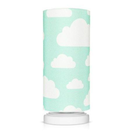 Lampa stołowa Chmurki Mint do pokoju dziecięcego