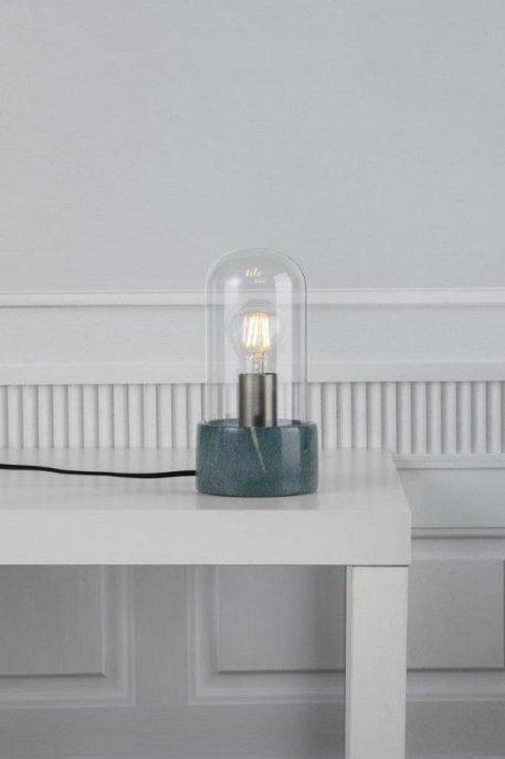 Lampa stołowa - ciemnozielony marmur, szkło - Nordlux