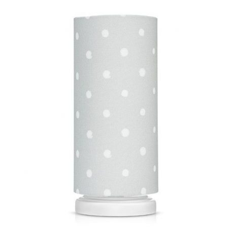 Lampa stołowa Lovely Dots Grey  do pokoju dziecięcego
