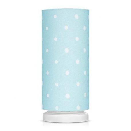 Lampa stołowa Lovely Dots Mint do pokoju dziecięcego