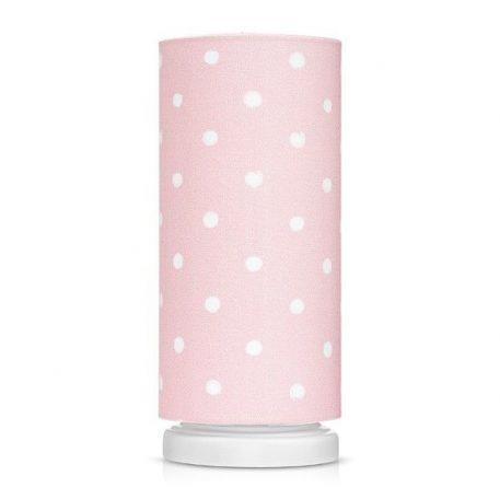 Lampa stołowa Lovely Dots Pink do pokoju dziecięcego