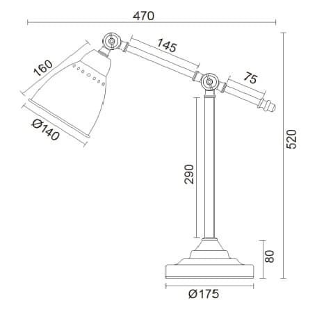 Lampa stołowa - MOD142-TL-01-GR