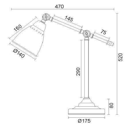 Lampa stołowa - MOD142-TL-01-W