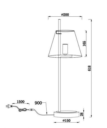 Lampa stołowa - nikiel - Maytoni