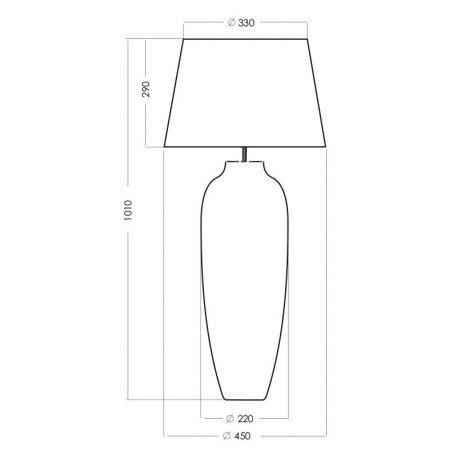 Lampa stołowa Styl modern classic beżowy, złoty, Czarny  - Sypialnia