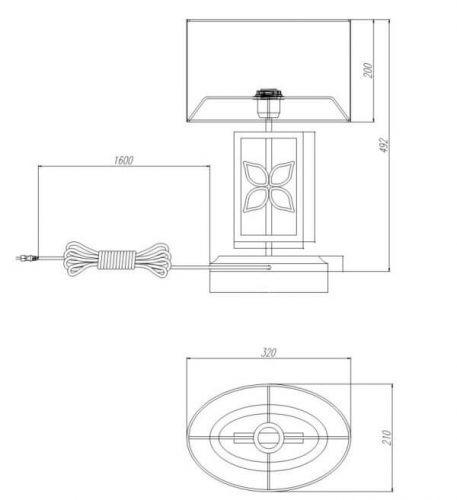 Lampa stołowa - Styl modern classic - biały, srebrny -  - Sypialnia