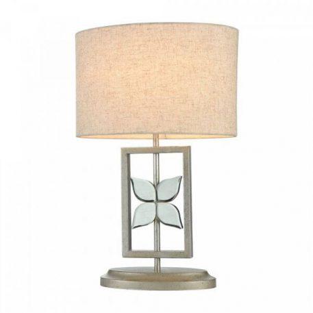 Lampa stołowa Styl modern classic biały, srebrny  - Sypialnia