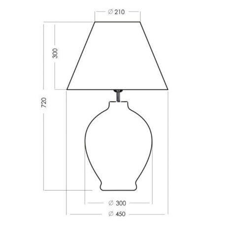 Lampa stołowa Styl modern classic biały, transparentny  - Sypialnia