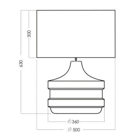 Lampa stołowa Styl modern classic biały, transparentny, złoty  - Salon