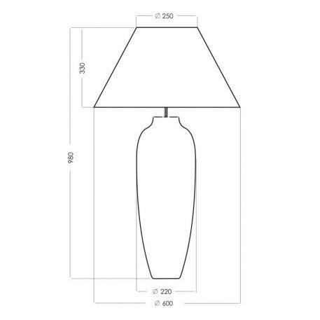 Lampa stołowa Styl nowoczesny złoty, Czarny  - Salon