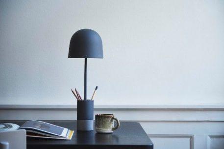 Lampa stołowa - szara struktura, beton - Frandsen Lighting