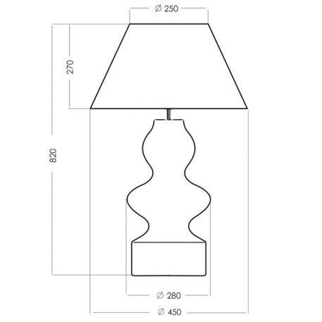 Lampa stołowa szklane biały, transparentny  - Salon